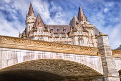 Fairmont Chateau Laurier. Sunny summer day. Under view Royalty Free Stock Photos