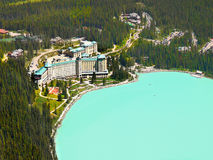 Fairmont Chateau, Meer Louise, Alberta, Canada Stock Foto's