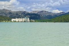 Fairmont Chateau at Lake Louise, Canada royalty free stock photography