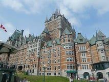 Fairmont Chateua Frontenau hotel w Quebec mieście fotografia stock