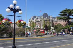 Fairmont Empress. Victoria,Canada- June 30th,2015: picture of the Fairmont Empress hotel in Victoria,Canada Stock Photo