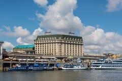 Fairmont Grand Hotel Kyiv in Ukraine stock images