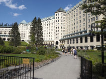 Fairmont Hotel at Lake Louise Stock Images