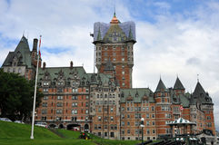 Fairmont Hotel at Quebec City, Canada Royalty Free Stock Photography