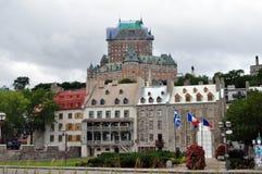 Fairmont hotell på Quebec City, Kanada Royaltyfri Fotografi