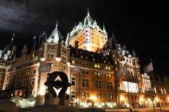 Fairmont hotell, Quebec, Kanada Arkivbilder