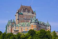 Fairmont Le Chateau Frontenac en la ciudad de Quebec, Canadá Foto de archivo libre de regalías