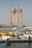 Fairmont Marina Residences in Abu Dhabi Stockbilder