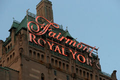 Fairmont Royal York. Sign of the Fairmont Royal York hotel in downtown Toronto Royalty Free Stock Image