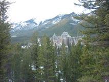 Fairmont wiosny hotel Banff Obraz Stock
