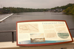 Fairmount Dam and Schuylkill Boat Yard Royalty Free Stock Images