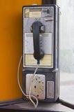 Fairmount, DENTRO - cerca do dezembro de 2015: Telefone de pagamento das comunicações da fronteira do vintage Imagem de Stock Royalty Free