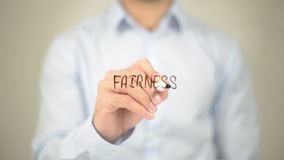 Free Fairness , Man Writing On Transparent Screen Stock Photos - 99204583