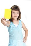 Fairplay. A young girl books someone. All isolated on white background Stock Photography