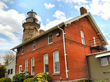 Fairport Harbor Light. Image of the fairport harbor lighthouse royalty free stock image