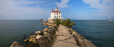 Fairport Harbor West Breakwater Light Royalty Free Stock Images