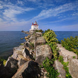 Fairport Harbor West Breakwater Light Royalty Free Stock Photo
