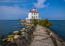 Fairport Harbor West Breakwater Light Stock Photos