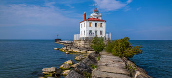 Fairport Harbor West Breakwater Light Stock Image