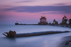 Fairport Harbor West Lighthouse Royalty Free Stock Images