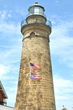 Fairport light. Image of Fairport Harbor lighthouse Stock Photography