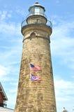 Fairport light. Image of Fairport Harbor lighthouse stock photography