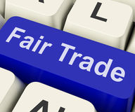 Fairtrade Key Shows Fair Trade Product Or Products Royalty Free Stock Image