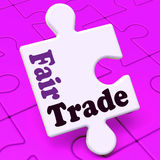 Fairtrade Puzzle Shows Fair Trade Product Royalty Free Stock Image