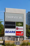 Fairvierw购物中心标志 库存图片