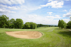 Fairway. Scenic view of a golf fairway Stock Photography