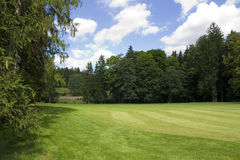 Fairway of a beautiful golf course Royalty Free Stock Photography