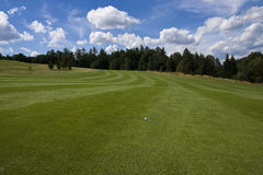 Fairway of a beautiful golf course Royalty Free Stock Images