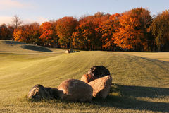 Fairway Fall Colors Stock Photo