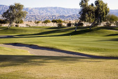 Fairway, Sand Trap, Golf Course Royalty Free Stock Photos