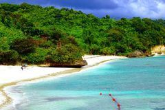 Fairways privés et Bluewater Boracay de plage Photo stock