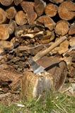Fairwoods et hache Photographie stock libre de droits