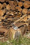 Fairwoods y hacha Fotografía de archivo libre de regalías