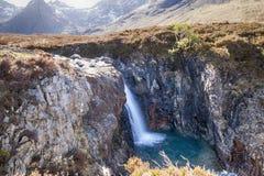 Fairy бассейны - остров Skye Стоковая Фотография RF