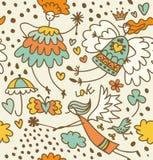 Fairy безшовная картина Стоковые Изображения