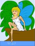 fairy берег озера Иллюстрация вектора