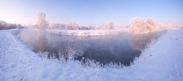 Fairy восход солнца зимы Стоковое Изображение