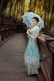 Fairy девушка в лесе Стоковое Фото