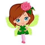 Fairy девушка в элегантном платье Стоковая Фотография