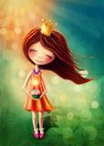 fairy девушка немногая иллюстрация вектора