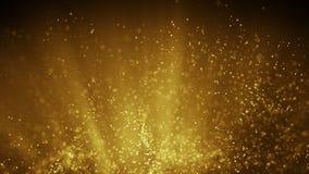 Fairy летание пыли в иллюстрации световых лучей золота абстрактной иллюстрация штока