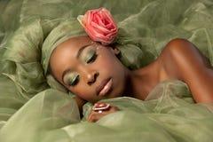 fairy женщина зеленого цвета фантазии Стоковые Фото
