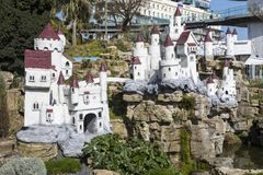 Fairy замок в Southend-на-море Стоковая Фотография