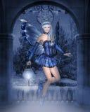 fairy зима иллюстрация штока