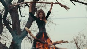 Fairy злая ведьма волшебство сток-видео