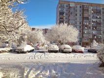 Fairy ландшафт зимы Стоковое Изображение RF